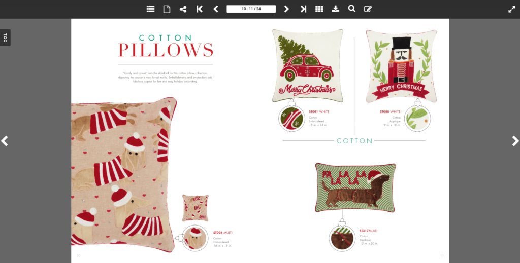 Holiday Catalog Example